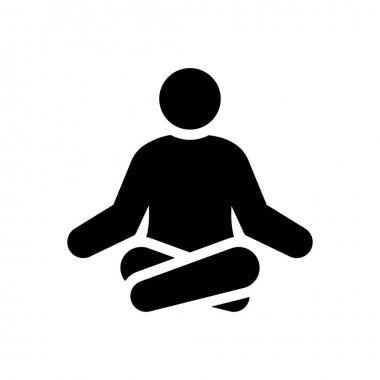 Meditation Icon for website design and desktop envelopment, development. premium pack. icon
