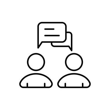 Group conversation Icon for website design and desktop envelopment, development. premium pack. icon