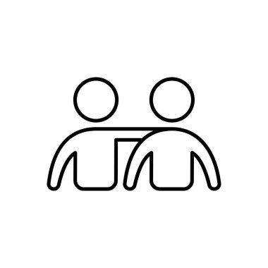 Friends Icon for website design and desktop envelopment, development. premium pack. icon