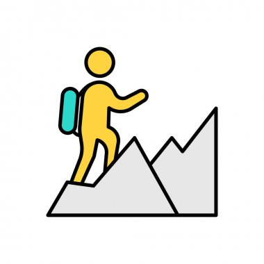 People hiking Icon for website design and desktop envelopment, development. premium pack. icon