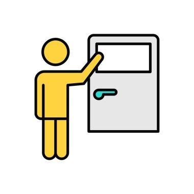 Door knock Icon for website design and desktop envelopment, development. premium pack. icon