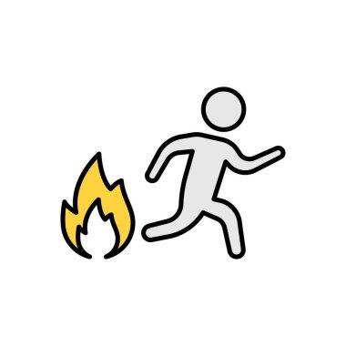 Running fire Icon for website design and desktop envelopment, development. premium pack. icon