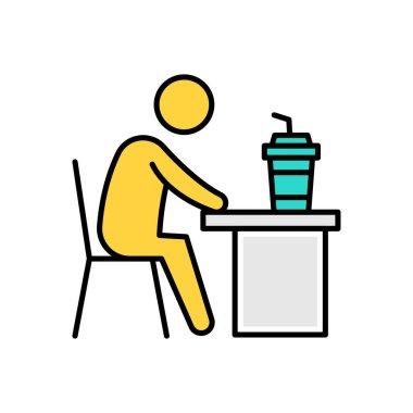 Man drinking Icon for website design and desktop envelopment, development. premium pack. icon