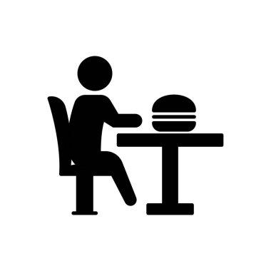 Burger eating Icon for website design and desktop envelopment, development. premium pack. icon