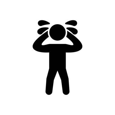 Man crying Icon for website design and desktop envelopment, development. premium pack. icon