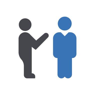 Man talk  Icon for website design and desktop envelopment, development. premium pack. icon