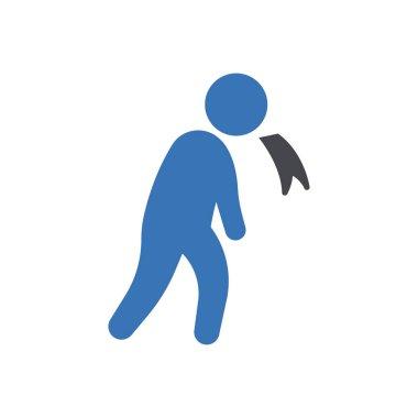 Man vomiting Icon for website design and desktop envelopment, development. premium pack. icon
