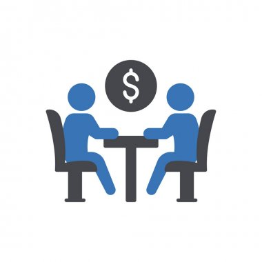 Business meeting Icon for website design and desktop envelopment, development. premium pack. icon
