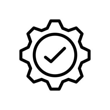 Setting tick Icon for website design and desktop envelopment, development. premium pack. icon