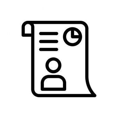Cv Icon for website design and desktop envelopment, development. premium pack. icon