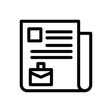 Job resource Icon for website design and desktop envelopment, development. premium pack. icon