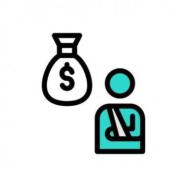 Employee pay Icon for website design and desktop envelopment, development. premium pack. icon