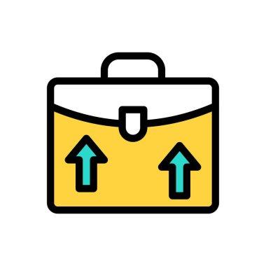 Growth portfolio Icon for website design and desktop envelopment, development. premium pack. icon