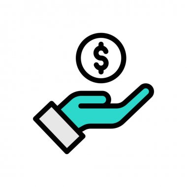 Pay dollar Icon for website design and desktop envelopment, development. premium pack. icon