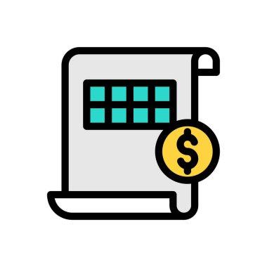 Accounting sheet Icon for website design and desktop envelopment, development. premium pack. icon