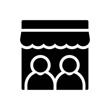 Users store Icon for website design and desktop envelopment, development. premium pack. icon