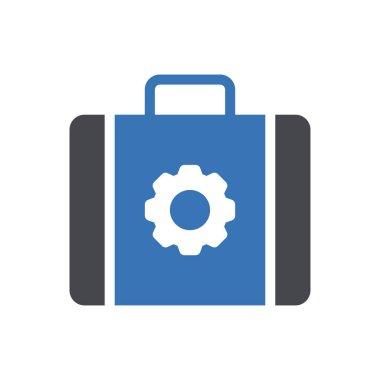 Bag setting Icon for website design and desktop envelopment, development. premium pack. icon