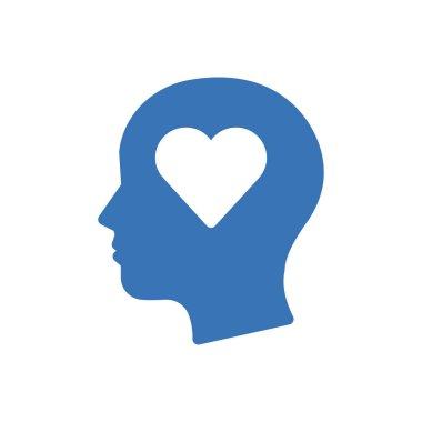 Heart mind Icon for website design and desktop envelopment, development. premium pack. icon