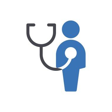 Employee healthcare Icon for website design and desktop envelopment, development. premium pack. icon