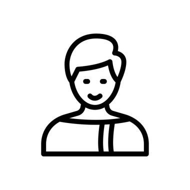 Boy Icon for website design and desktop envelopment, development. premium pack. icon