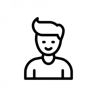 Younger boy Icon for website design and desktop envelopment, development. premium pack. icon
