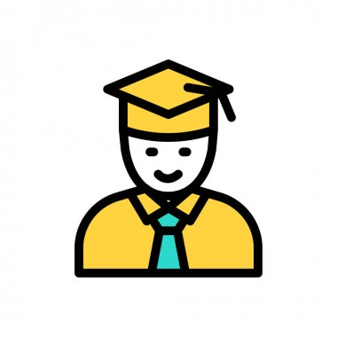 Graduate Icon for website design and desktop envelopment, development. premium pack. icon