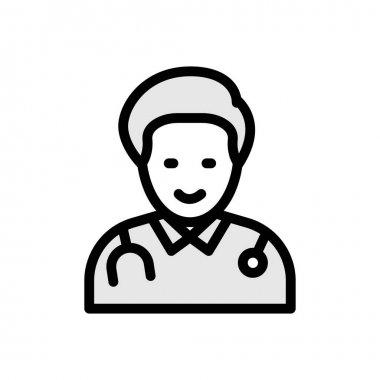 Doctor Icon for website design and desktop envelopment, development. premium pack. icon