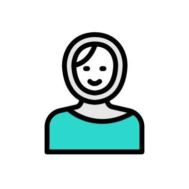 Actress Icon for website design and desktop envelopment, development. premium pack. icon