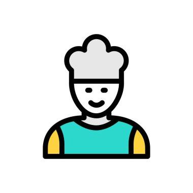 Chef Icon for website design and desktop envelopment, development. premium pack. icon