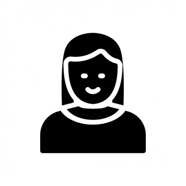 Female Icon for website design and desktop envelopment, development. premium pack. icon