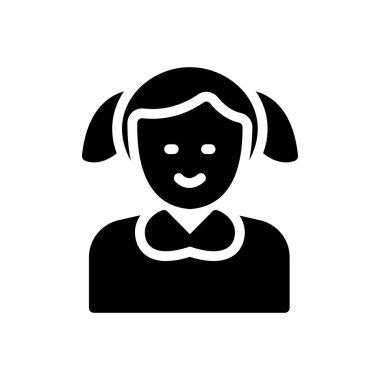 Girl Icon for website design and desktop envelopment, development. premium pack. icon