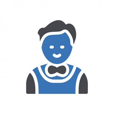 Waiter Icon for website design and desktop envelopment, development. premium pack. icon