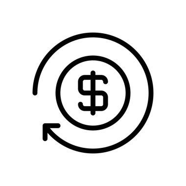 Dollar Icon for website design and desktop envelopment, development. premium pack. icon