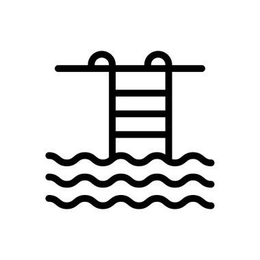 Pool Icon for website design and desktop envelopment, development. premium pack. icon