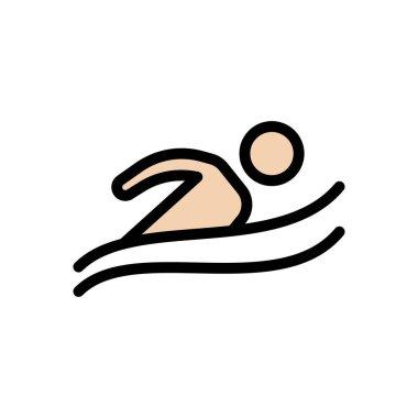 Swimming  Icon for website design and desktop envelopment, development. premium pack. icon