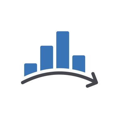 Chart Icon for website design and desktop envelopment, development. premium pack. icon