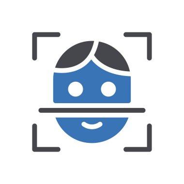 Face Icon for website design and desktop envelopment, development. premium pack. icon