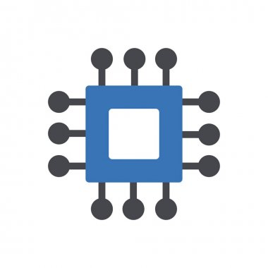 Processor Icon for website design and desktop envelopment, development. premium pack. icon