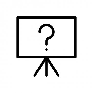 Question board Icon for website design and desktop envelopment, development. premium pack. icon