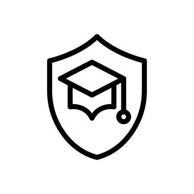 Shield education Icon for website design and desktop envelopment, development. premium pack. icon