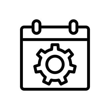 Calendar settings Icon for website design and desktop envelopment, development. premium pack. icon