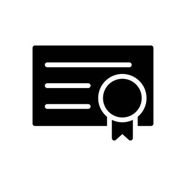 Certificate Icon for website design and desktop envelopment, development. premium pack. icon