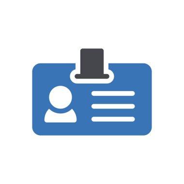 Id badge Icon for website design and desktop envelopment, development. premium pack. icon