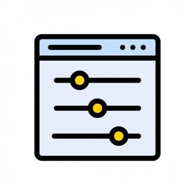Adjustment  Icon for website design and desktop envelopment, development. premium pack. icon