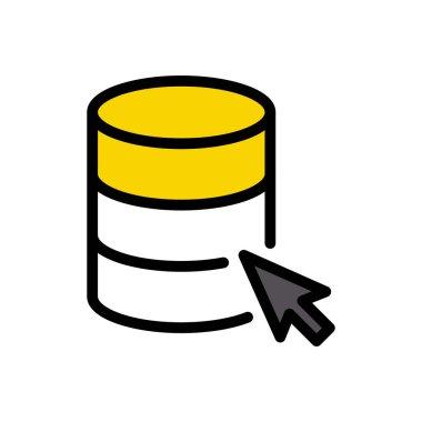Database  Icon for website design and desktop envelopment, development. premium pack. icon