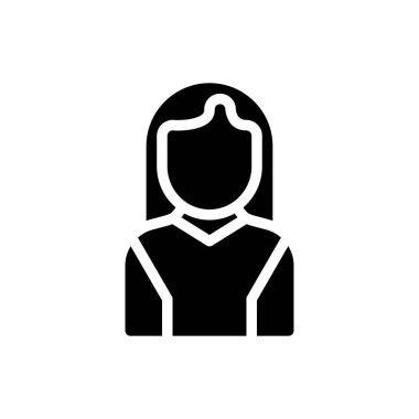 Female  Icon for website design and desktop envelopment, development. premium pack. icon