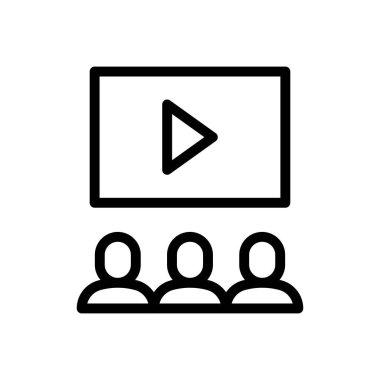 Video lecturer Icon for website design and desktop envelopment, development. premium pack. icon