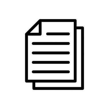 Document Icon for website design and desktop envelopment, development. premium pack. icon