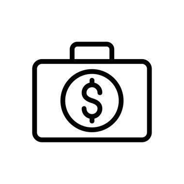 Dollar bag Icon for website design and desktop envelopment, development. premium pack. icon