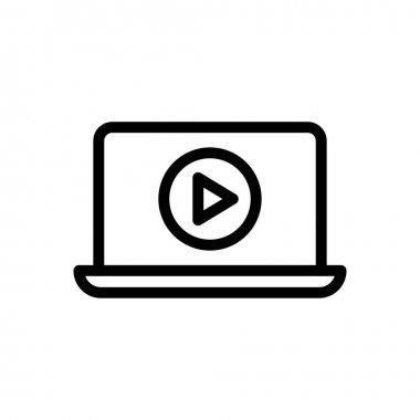 Video laptop Icon for website design and desktop envelopment, development. premium pack. icon